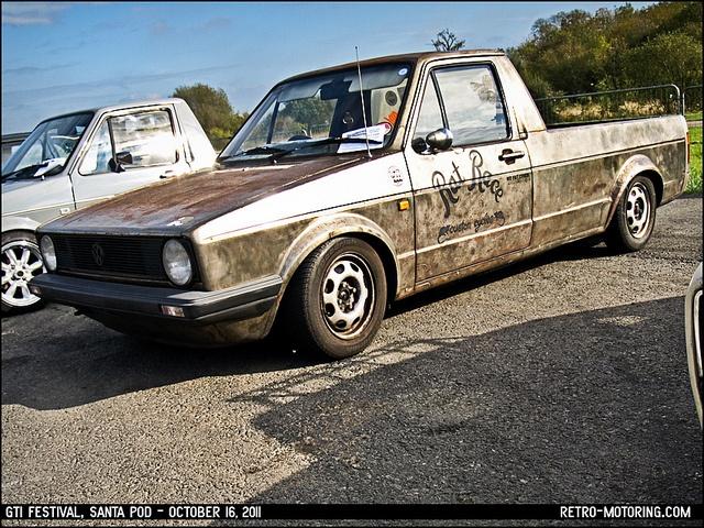VW Golf Mk1 Caddy by retromotoring, via Flickr