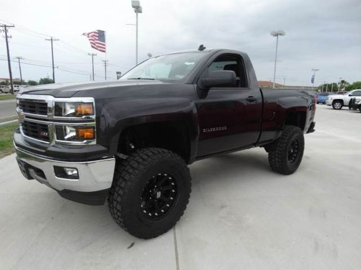 Pix For > Chevy Silverado 2014 Single Cab Lifted