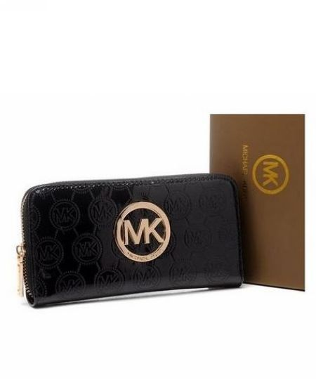 Michael Kors Wallet Jet Set Monogram Leather Black [MK_bags_2332] - $26.94 : Michael Kors 2013 : Michael Kors Factory Outlet,Michael Kors Online Outlet Sale Up To 80% OFF,new Michael Kors here