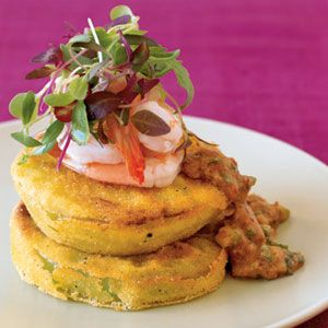9 Recipes from New Orleans' Best Chefs  | Fried Green Tomatoes With Shrimp Rémoulade | MyRecipes.com