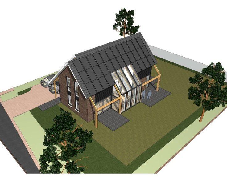 Een nieuw ontwerp voor een eigentijdse woning in Schoonhoven. De woning is samengesteld uit 2 volumes waarbij het hoofdgebouw duidelijk hoger is als het bijgebouw.