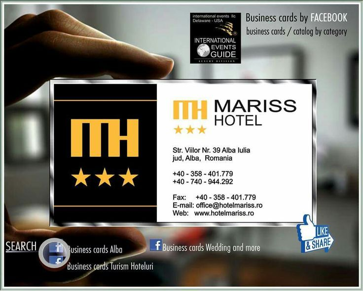 Business cards turism hoteluri, Business cards alba