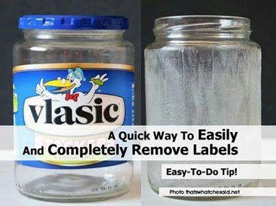 Kleefresten labels verwijderen op glas