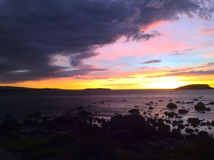 Encroaching Darkness - Encounter Bay, South Australia  #landscape #sea #sunrise
