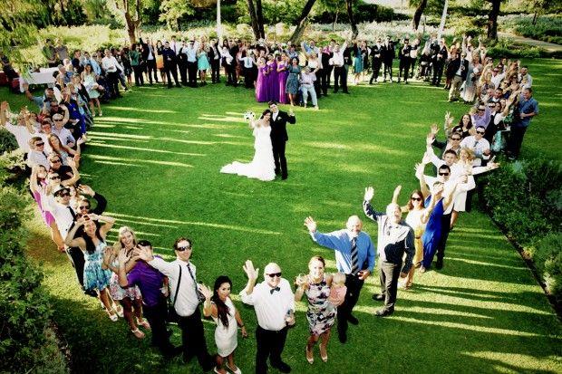 Busselton Wedding, Aqua Resort, Heart shape, group photo,