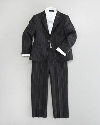 More than 500 bucks???    Dolce & Gabbana Pinstripe Jacket, Dress Shirt & Pants - Neiman Marcus
