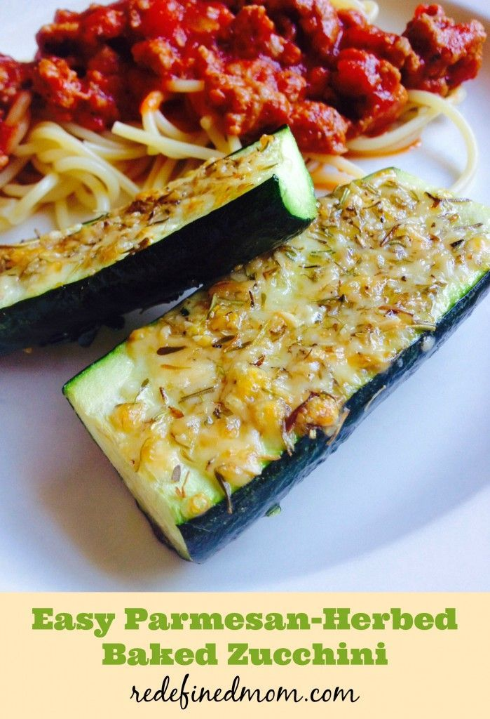 Keep weeknight dinners healthy and simple with this delicious Easy Parmesan Herbed Baked Zucchini Recipe!