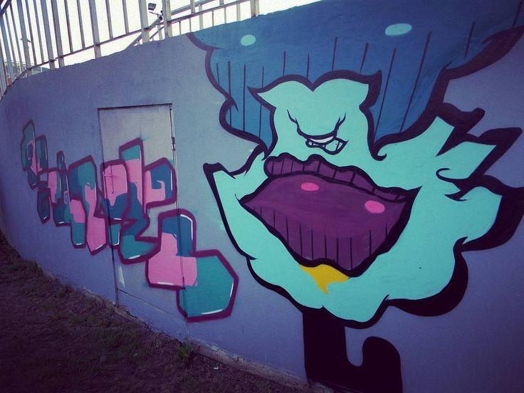 What you think about the #blue lady?   #graffiti #graffitiporn #graffitiwall #streetart #urban #kunst #art #Europe #photography #dopephoto by dopephoto__