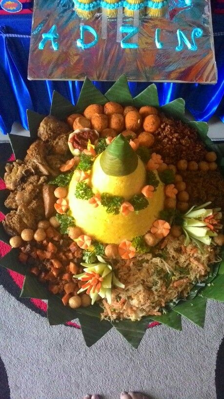 It's call in indonesia tumpeng..traditional food but so delicious..if u come to indonesia u must try this..