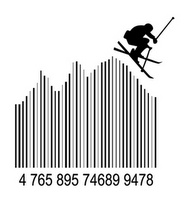 Skier #barcode PD