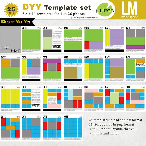 Best Digital Scrapbooking Layout Templates Images On