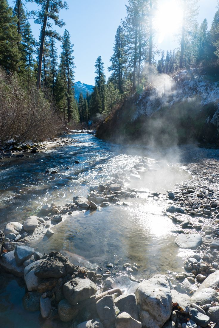 Idaho Hot Springs // Hit the slopes or cruise the coast with our list of 12 winter destinations for outdoor adventure, perfect for the sun-seeker and snow-lover alike.