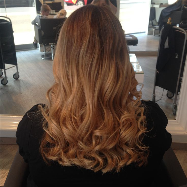 Ombré von blond zurück zu braun. Zufrieden mit dem Ergebnis :-)