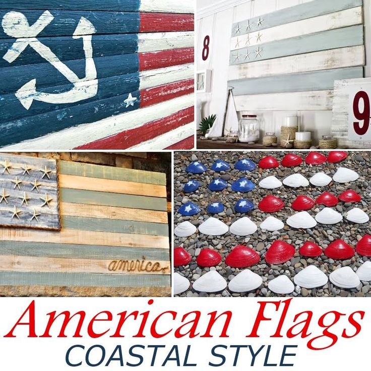 Make an American Flag Coastal Style. Ideas and Tutorials on Completely Coastal. #patriotic #americanflag #4thofjuly