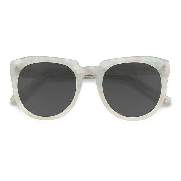 Women's Laohu - Floral square - 18993 Rx Sunglasses ($55) ❤ liked on Polyvore featuring accessories, eyewear, sunglasses, retro square sunglasses, floral sunglasses, white retro sunglasses, thick glasses and thick sunglasses