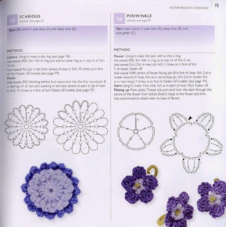 Mejores 99 imágenes de flores en Pinterest | Patrones de ganchillo ...
