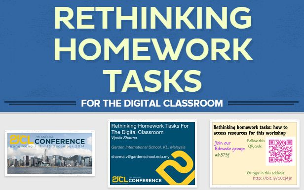 Some practical ideas and suggestions for redesigning homework tasks for the digital classroom.