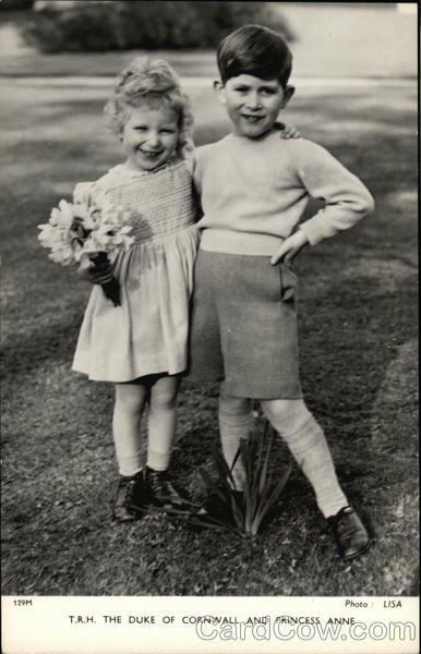 De hertog van Cornwall en Prinses Anne Royalty
