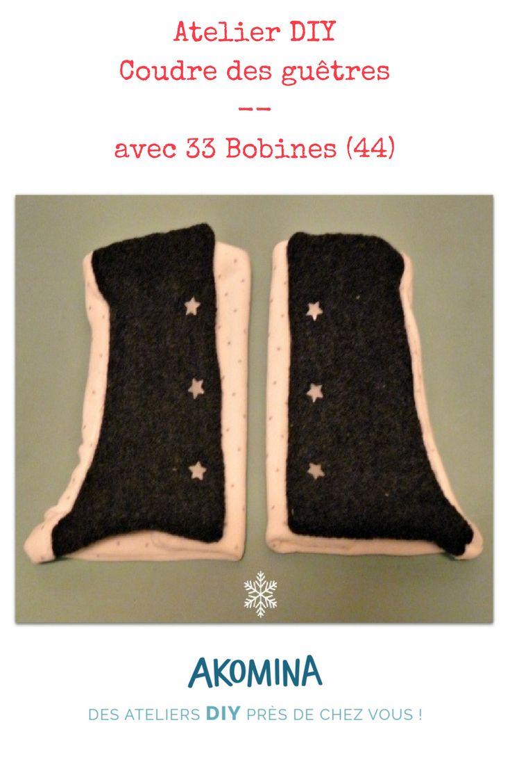 Rendez vous à la mercerie 33 Bobines à Saint-Étienne-de-Montluc pour préparer l'hiver ! Cousez des guêtres DIY pour tenir vos chevilles au chaud. Atelier proposé sur Akomina