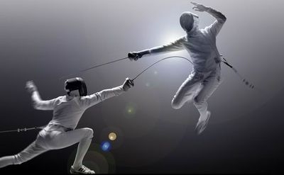 Although this is epee….it it is still a cool picture.
