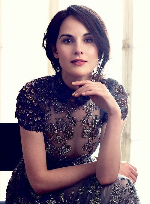 Hair, makeup, that dress and of course Michelle Dockery