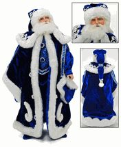 """sold out till 2016 Katherine's collection blue Santa Claus Azure Frost 18"""" sitting or standable"""