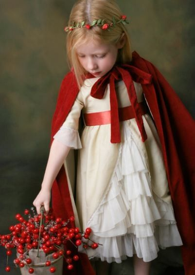 In case we do red riding hood (Maddie) and the wolf (Moose) for Halloween... Red Riding Hood from www.ilovegorgeous...