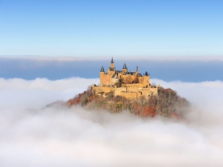 Hohenzollern Castle stands proudly over 750 feet above Germany. It's most exceptional on overcast days when it sticks out above the fog—a literal castle on a cloud.