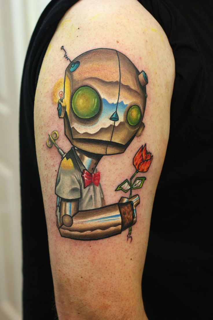 robot tattoos | Uminga Inspired Robot Tattoo by nathardwick