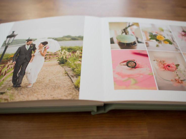 How to Make a Wedding Photo Album | Photo by: Paula O'Hara Photography  | TheKnot.com