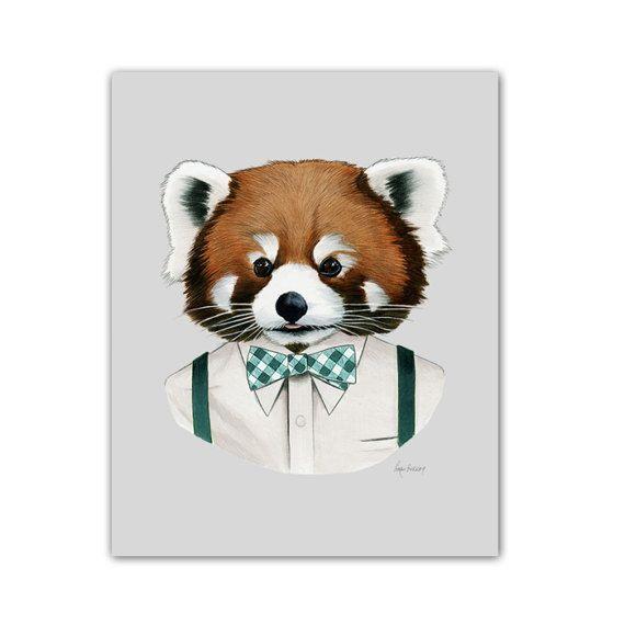 Nos tirages d'art animal pimpant faire eux-mêmes à la maison sur les murs d'une chambre de bébé moderne, comme décoration de salle de séjour, doublure un couloir, ou dans toute la maison d'un amoureux des animaux. Tous les tirages d'art sont faites par nos soins dans notre atelier de Portland dans les arbres.  Histoire de la Panda roux : Alors qu'il vais jamais être appelé la vie du parti, ce petit panda a un parfait esprit tranquille pour divertissant de petits groupes d'amis. Il utilise…