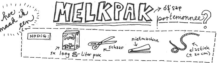 Tutorial (in Dutch) how to make a purse from a milk carton (or juice carton). Made by Rick Companje (http://companje.nl/)