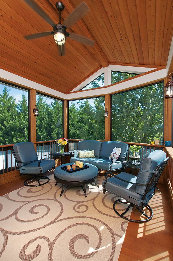 Inspiration for a large modern back porch remodel in san francisco - Inspiration For A Large Modern Back Porch Remodel In San Francisco Three Season Porch With Download