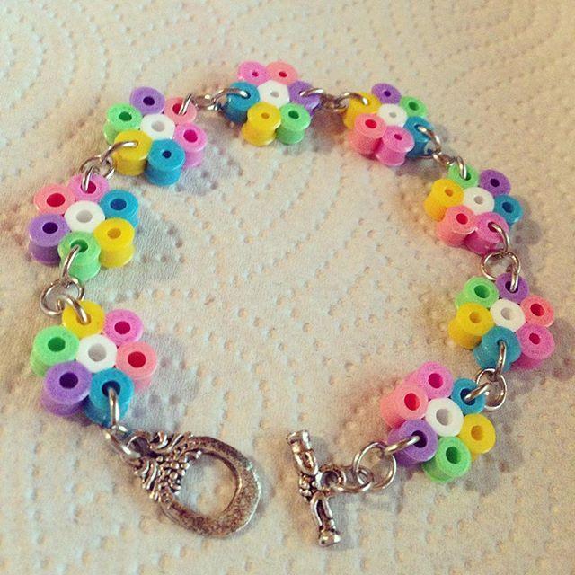 Spring bracelet hama beads by ahallava