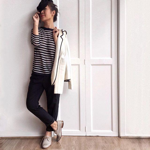 Frenchie Friday vibes in Ines de la Fressange x Uniqlo...J'adore #UNIQLOInes ❤️ @uniqloau  Happy #fashionfriday!  #brigadeirosoutfits  http://www.liketk.it/2bibG