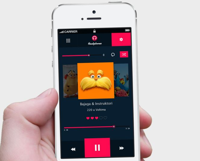 Music Player iPhone Mockup