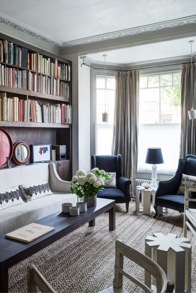 Disparate tastes and a shared love of antiques creates a mélange of texture and purity in this London couple's home.