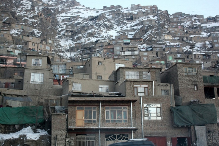 """""""Old Kabul"""" is made up of houses perched on a mountaintop in Afghanistan"""