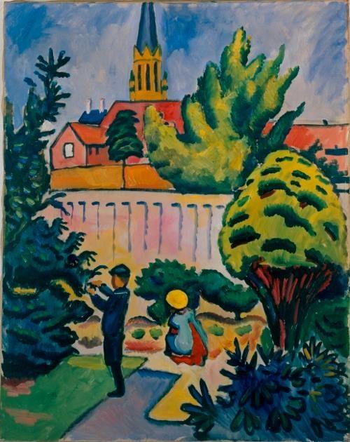 August Macke, Kinder im Garten, 1912 Portigon AG ...