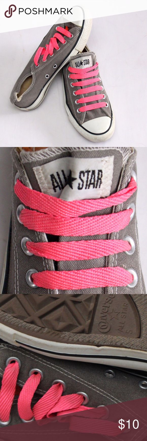 Women's sz 7 converse shoes Women's converse- grey - sz 7 women or 5 men's. Good used condition! Converse Shoes