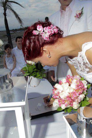 Bouquet novia y arreglo floral