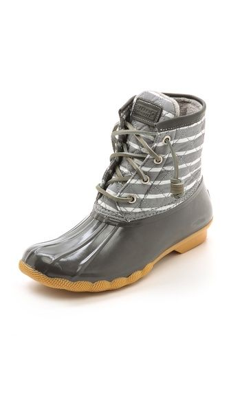Sperry Top-Sider Saltwater Striped Duck Boots