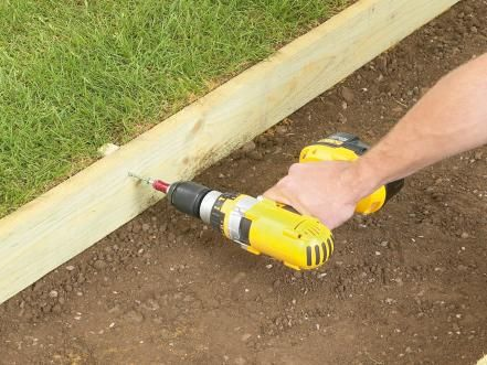 Secure the Edging Boards