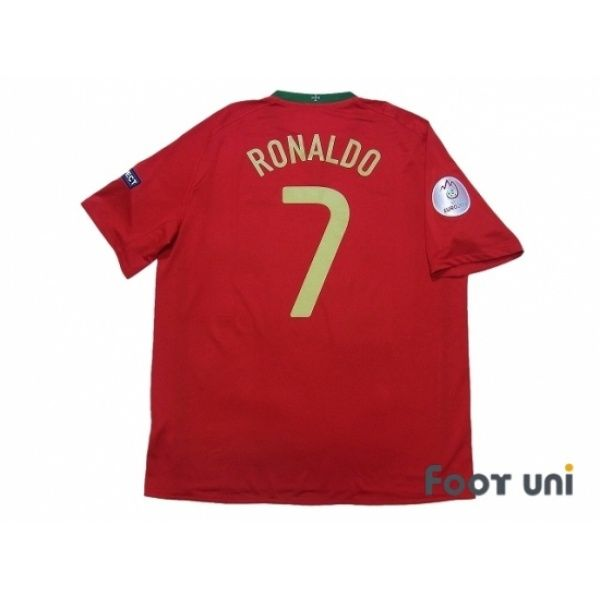 Photo2: Portugal Euro 2008 Home Shirt #7 Ronaldo w/tags UEFA Euro 2008 Patch/Badge Respect Patch/Badge 2008 UEFA Euro Portugal Home Shirt #nike - Football Shirts,Soccer Jerseys,Vintage Classic Retro - Online Store From Footuni Japan
