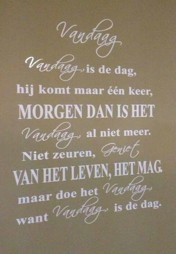 #vandaag #quote #genieten