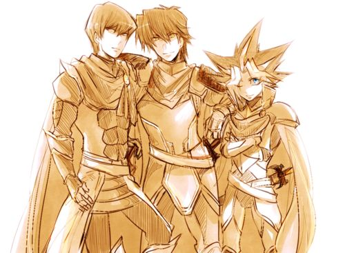 Critias, Hermos, and Timaeus Legendary Knights of Atlantis and protectors of the Dominion of the Beasts.