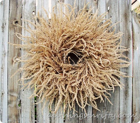 How to Make a Wreath out of Corn Tassels via Brooke from All Things Thrifty on The Idea Room