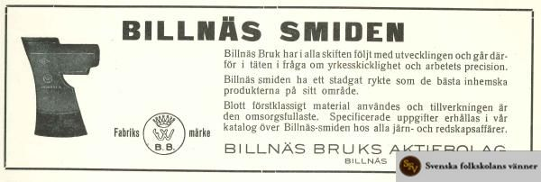 BillnaesSmiden_reklam1932.jpg 600 × 202 pixlar