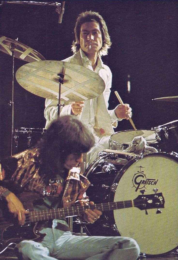 Bill Wyman bass player and Charlie Watts drummer of The Rolling Stones
