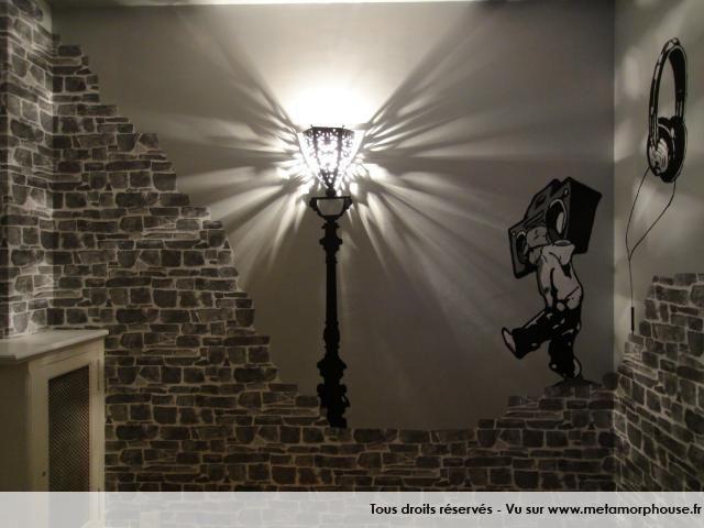 photos dcoration de chambre dado garon modernedesign urbain gris noir de laziza - Lamp Bureau Ado